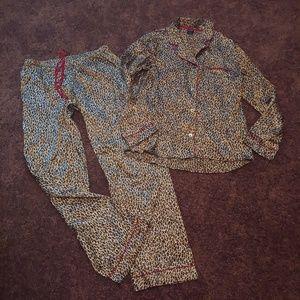 Apt 9 intimates gently worn leopard print pj set